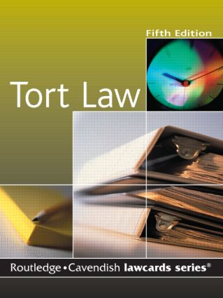 Cavendish: Tort Lawcards book cover