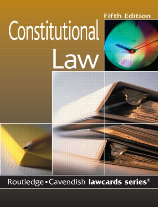 Cavendish: Constitutional Lawcards 5/e book cover