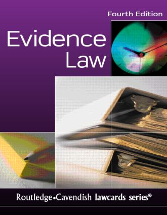 Evidence Lawcards 4/e: Fourth edition book cover