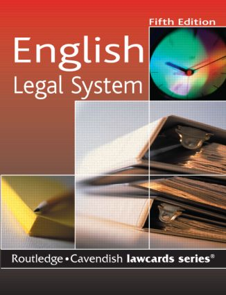 Cavendish: English Legal System Lawcard book cover