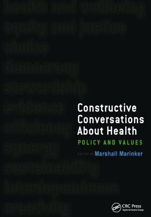 Constructive Conversations About Health: Pt. 2, Perspectives on Policy and Practice, 1st Edition (Paperback) book cover