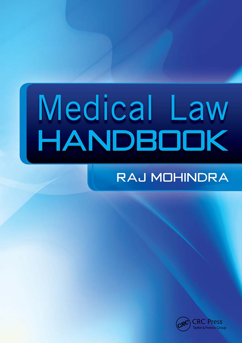 Medical Law Handbook: The Epidemiologically Based Needs Assessment Reviews, Low Back Pain - Second Series, 1st Edition (Paperback) book cover