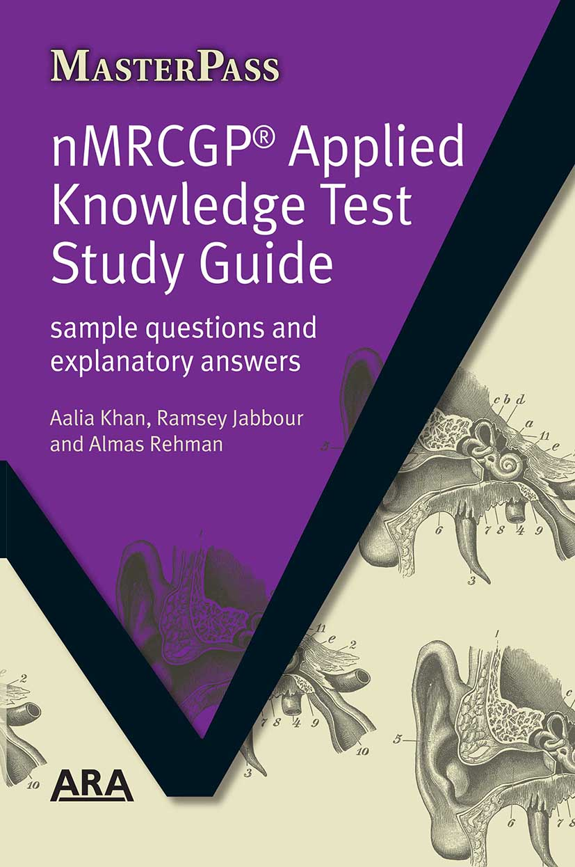 NMRCGP Applied Knowledge Test Study Guide: Sample Questions and Explanatory Answers, 1st Edition (Paperback) book cover