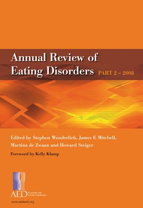 Annual Review of Eating Disorders: Pt. 2, 1st Edition (Paperback) book cover