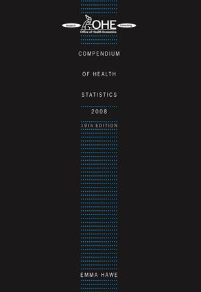 Compendium of Health Statistics: 2008, 1st Edition (Paperback) book cover