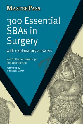 300 Essential SBAs in Surgery: With Explanatory Answers, 1st Edition (Paperback) book cover