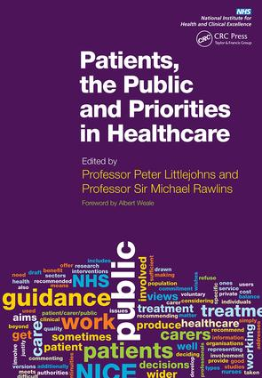 Patients, the Public and Priorities in Healthcare: 1st Edition (Paperback) book cover