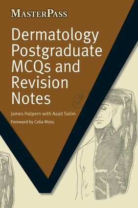 Dermatology Postgraduate MCQs and Revision Notes: 1st Edition (Paperback) book cover