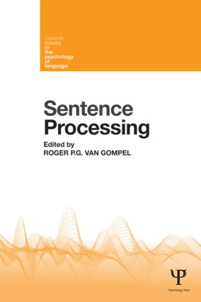Sentence Processing (Paperback) book cover