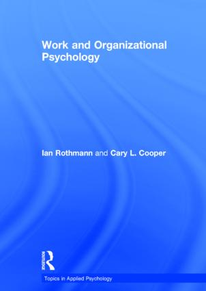 Work and Organizational Psychology book cover