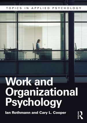 Work and Organizational Psychology: 2nd Edition (Paperback) book cover