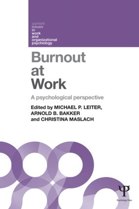 Burnout at Work: A psychological perspective (Paperback) book cover
