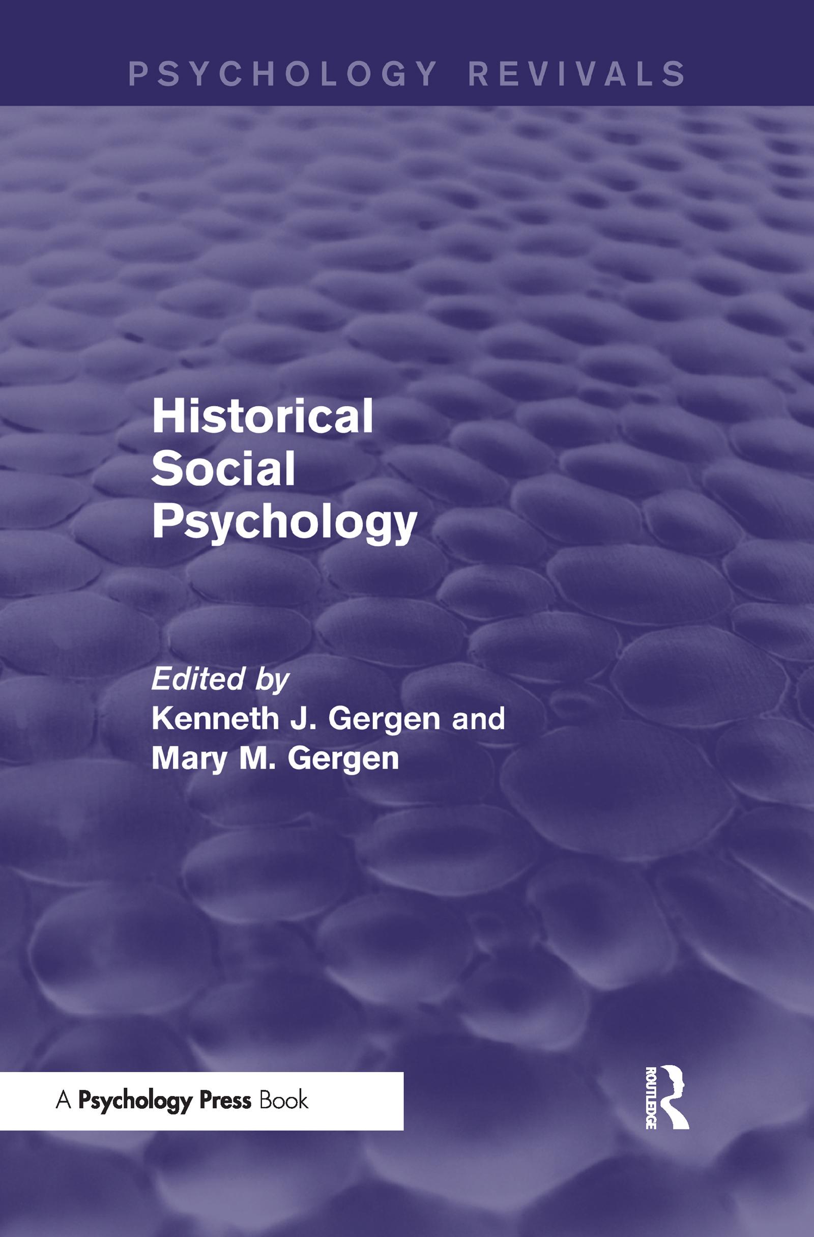 Historical Social Psychology (Psychology Revivals) (Hardback) book cover