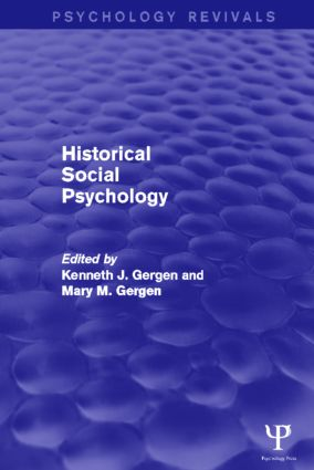 Historical Social Psychology: 1st Edition (Paperback) book cover