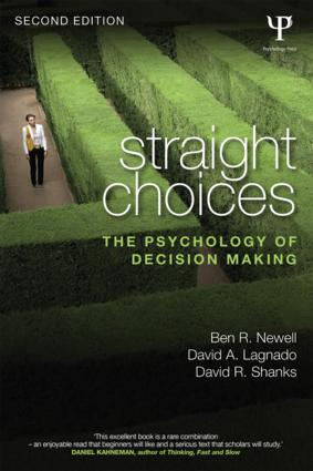 Straight Choices: The Psychology of Decision Making book cover