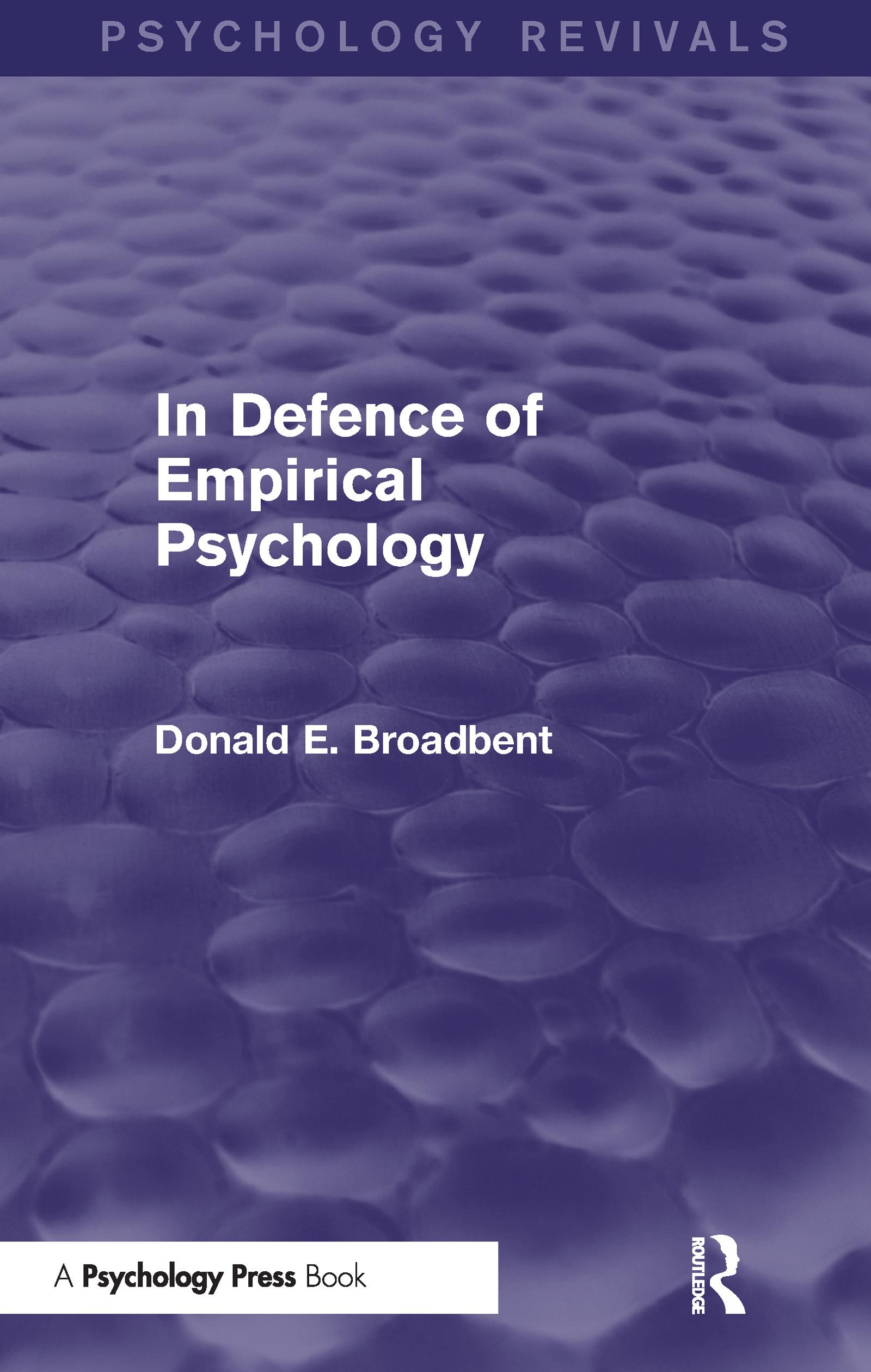 In Defence of Empirical Psychology (Psychology Revivals)