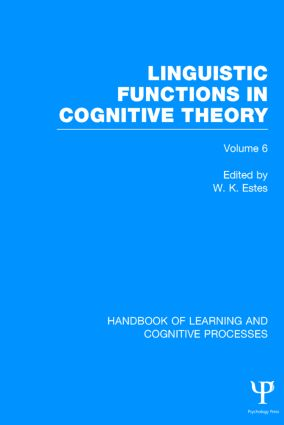 Handbook of Learning and Cognitive Processes book cover