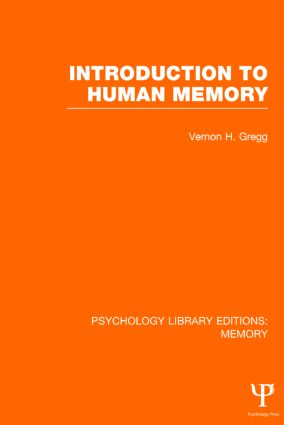 Introduction to Human Memory (PLE: Memory) (Hardback) book cover