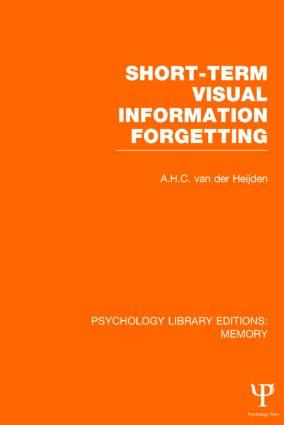 Short-term Visual Information Forgetting (PLE: Memory) (Hardback) book cover
