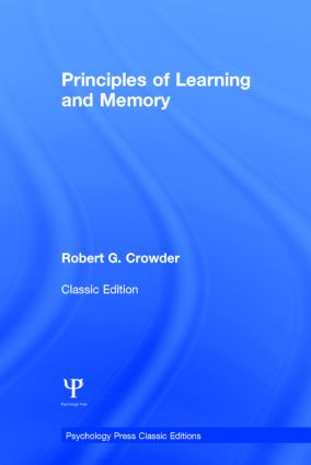 Principles of Learning and Memory: Classic Edition (Hardback) book cover