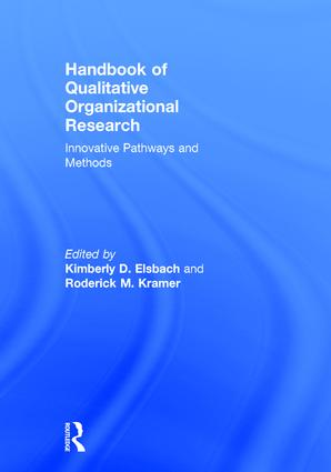 Handbook of Qualitative Organizational Research: Innovative Pathways and Methods (Hardback) book cover