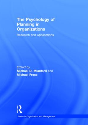 The Psychology of Planning in Organizations: Research and Applications (Hardback) book cover