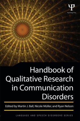 Handbook of Qualitative Research in Communication Disorders (Paperback) book cover