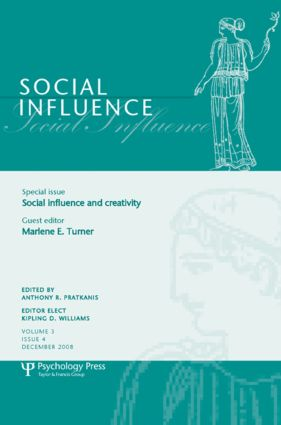 Social Influence and Creativity: A Special Issue of Social Influence (Paperback) book cover