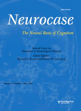 Emotions in Neurological Disease: A Special Issue of Neurocase book cover