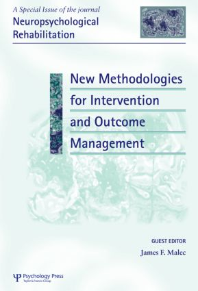 New Methodologies for Intervention and Outcome Measurement: A Special Issue of Neuropsychological Rehabilitation (Hardback) book cover