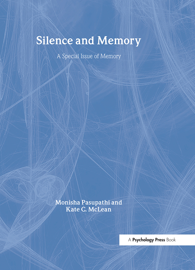 Silence and Memory: A Special Issue of Memory book cover