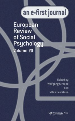 European Review of Social Psychology: Volume 20: A Special Issue of the European Review of Social Psychology book cover