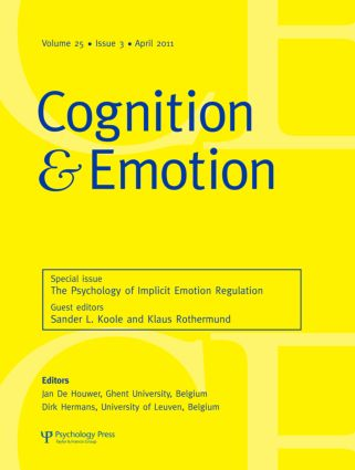 The Psychology of Implicit Emotion Regulation: A Special Issue of Cognition and Emotion (Paperback) book cover