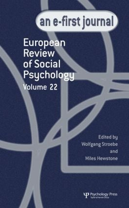 European Review of Social Psychology: Volume 22 (Hardback) book cover