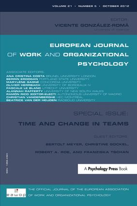 Time and Change in Teams (Paperback) book cover