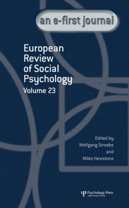 European Review of Social Psychology: Volume 23 (Hardback) book cover