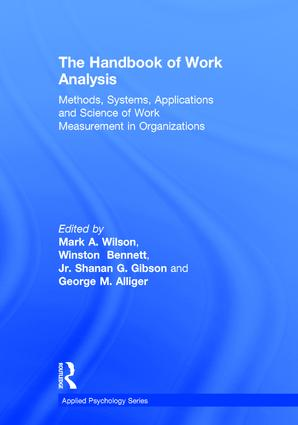 The Handbook of Work Analysis: Methods, Systems, Applications and Science of Work Measurement in Organizations (Hardback) book cover