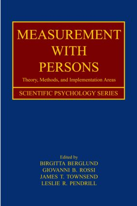Measurement With Persons: Theory, Methods, and Implementation Areas, 1st Edition (Hardback) book cover
