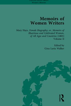 Memoirs of Women Writers, Part II (set): 1st Edition (Hardback) book cover