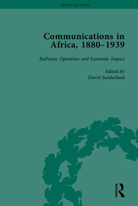 Communications in Africa, 1880–1939 (set): 1st Edition (Paperback) book cover