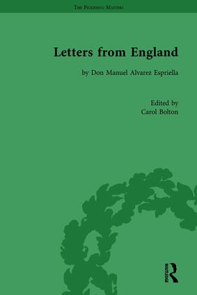Letters from England: by Don Manuel Alvarez Espriella book cover