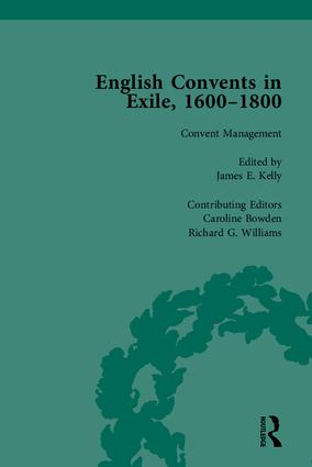 English Convents in Exile, 1600–1800, Part II: 1st Edition (Hardback) book cover