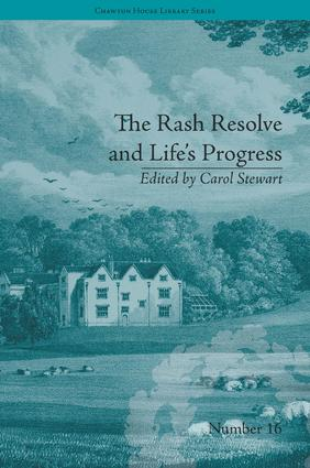 The Rash Resolve and Life's Progress: by Eliza Haywood book cover