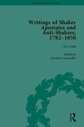 Writings of Shaker Apostates and Anti-Shakers, 1782–1850 book cover