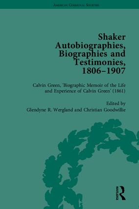 Shaker Autobiographies, Biographies and Testimonies, 1806–1907: 1st Edition (Hardback) book cover