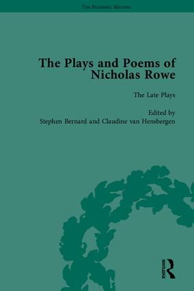 The Plays and Poems of Nicholas Rowe: 1st Edition (Hardback) book cover