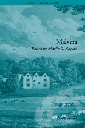 Malvina: by Sophie Cottin book cover