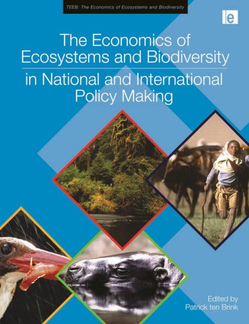 The Economics of Ecosystems and Biodiversity in National and International Policy Making book cover