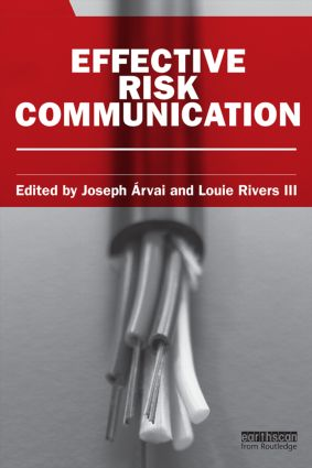 Effective Risk Communication (Paperback) book cover