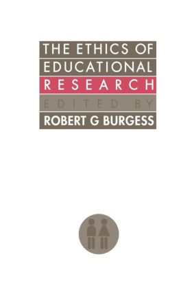 The Ethics Of Educational Research (Paperback) book cover